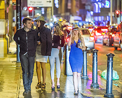 © Licensed to London News Pictures . 01/01/2015 . Manchester , UK . Revellers usher in the New Year on a night out in Manchester City Centre .  Photo credit : Joel Goodman/LNP