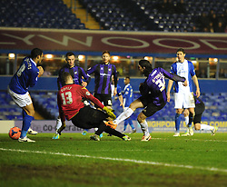 Bristol Rovers' John-Joe OToole goes close in the dieting moments of the game - Photo mandatory by-line: Joe Meredith/JMP - Tel: Mobile: 07966 386802 14/01/2014 - SPORT - FOOTBALL - St Andrew's Stadium - Birmingham - Birmingham City v Bristol Rovers - FA Cup - Third Round