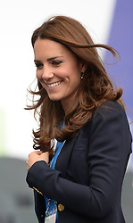 Image licensed to i-Images Picture Agency. 29/07/2014. Glasgow, United Kingdom. The Duchess of Cambridge  arrives to watch the Athletics, Hampden Park, Glasgow on day six of the Commonwealth Games.  Picture by Andrew Parsons / i-Images