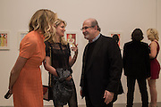 BODIL BLAIN,; AVERY AGNELLI; SALMAN RUSHDIE, Francesco Clemente Private view,  Emblems of Transformation. Blain Southern. London. 28 April 2015