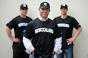 New Manager Andy Skeels poses for a picture with Scott Campbell and Dan Devonshire at the Baseball New Zealand Diamond Blacks press conference ahead of competing at the World Baseball Classic Qualifier in Taiwan in November. Skycity Grand Hotel, Auckland, Friday 21 September 2012. Photo: Andrew Cornaga/Photosport.co.nz