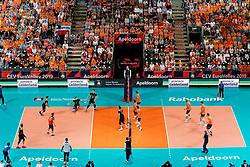 21-09-2019 NED: EC Volleyball 2019 Netherlands - Germany, Apeldoorn<br /> 1/8 final EC Volleyball / Centercourt OmniSport De Voorwaarts