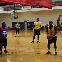 Arther Smith of Hattiesburg prepares to take a foul shot during Saturday's Special Olympics Mississippi Spring Games basketball tournament at Ole Miss