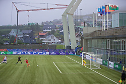 TÓRSHAVN, FAROE ISLANDS - Thursday, August 29, 2019: Wales' Natasha Harding scores the third goal from the penalty spot during the UEFA Women Euro 2021 Qualifying Group C match between the Faroe Islands and Wales at Tórsvøllur Stadium. (Pic by David Rawcliffe/Propaganda)