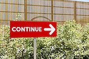 The sign reads &quot;Continue&quot; at Russia Pavilion of Expo 2015, Rho-Pero, Milan. &copy; Carlo Cerchioli<br /> <br /> Il cartello dice &quot;continua&quot; al padiglione della Russia di Expo 2015, Rho-Pero, Milano.