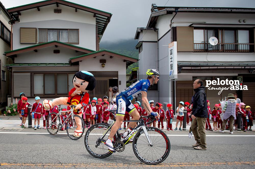 2014 Tour of Japan / stage4 / Japan / BOLE Grega (SLO) / Vini Fantini - NIPPO / kids