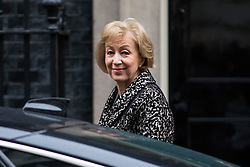 © Licensed to London News Pictures. 20/02/2018. London, UK. Leader of the House of Commons Andrea Leadsom arrives on Downing Street for the weekly Cabinet meeting. Photo credit: Rob Pinney/LNP