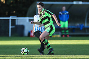 Forest Green Rovers Holly Timbrell(8) runs forward during the South West Womens Premier League match between Forest Greeen Rovers Ladies and Marine Academy Plymouth LFC at Slimbridge FC, United Kingdom on 5 November 2017. Photo by Shane Healey.