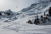 Heli-skiing & boarding with Canadian Mountain Holidays (CMH), Bugaboos, British Columbia, Canada