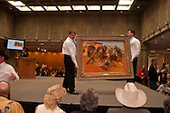 The Russell, C.M. Russell Museum Sale, Great Falls, Montana, 2011, The Burro and the Bad Men by Andy Thomas, $55,000