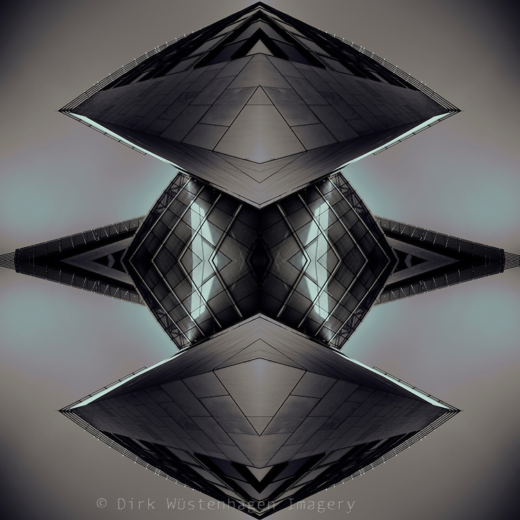 Digital manipulation of a photographed building
