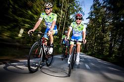 Matej Mohoric and Jan Polanc during practice session of Slovenian Cycling Team for 2018 UCI Road World Championships Innsbruck, on September 17, 2018 in Zgornji Brnik, Slovenia. Photo by Matic Klansek Velej / Sportida