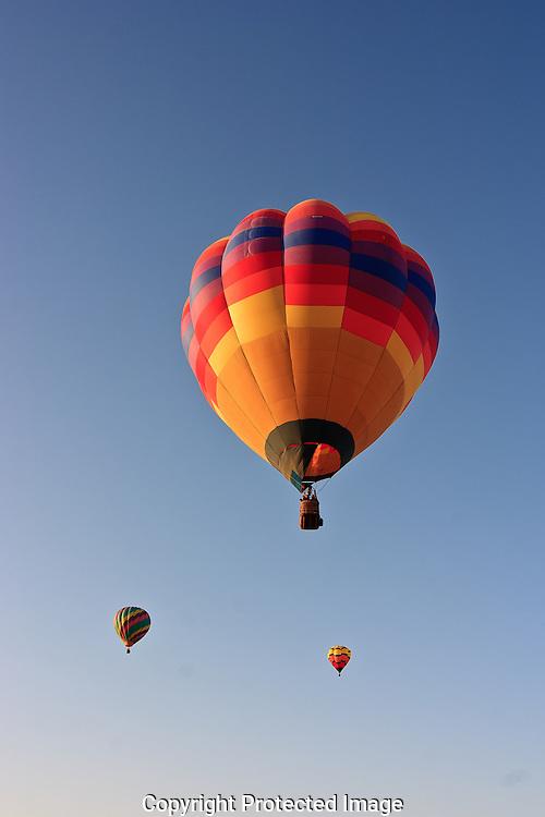 Morning balloon launch at the Yuma Balloon Festival