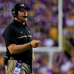 Oct 1, 2016; Baton Rouge, LA, USA;  Missouri Tigers head coach Barry Odom during the first half of a game against the LSU Tigers at Tiger Stadium. Mandatory Credit: Derick E. Hingle-USA TODAY Sports