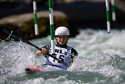 Viktoriia US of Ukraine during the Canoe Single (WK1) Womens Semi Final race of 2019 ICF Canoe Slalom World Cup 4, on June 28, 2019 in Tacen, Ljubljana, Slovenia. Photo by Sasa Pahic Szabo / Sportida