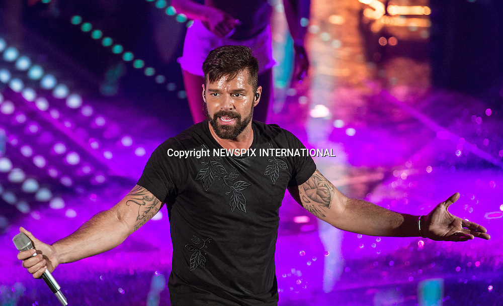 08.02.2017; San  Remo, Italy: RICKY MARTIN<br /> performs at the San Remo Music Festival.<br /> Mandatory Credit Photo: &copy;NEWSPIX INTERNATIONAL<br /> <br /> PHOTO CREDIT MANDATORY!!: NEWSPIX INTERNATIONAL(Failure to credit will incur a surcharge of 100% of reproduction fees)<br /> <br /> IMMEDIATE CONFIRMATION OF USAGE REQUIRED:<br /> Newspix International, 31 Chinnery Hill, Bishop's Stortford, ENGLAND CM23 3PS<br /> Tel:+441279 324672  ; Fax: +441279656877<br /> Mobile:  0777568 1153<br /> e-mail: info@newspixinternational.co.uk<br /> Please refer to usage terms. All Fees Payable To Newspix International