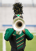Members of the Sharpstown Marching Band perform during the Houston ISD Marching Band Festival at Delmar Stadium, October 11, 2016.