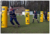 Northampton Saints Premier Rugby Camp at Old Scouts RFC. 04-04-2006.