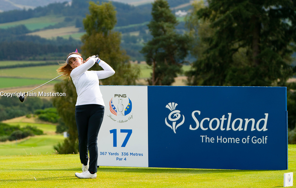 Auchterarder, Scotland, UK. 10 September 2019. Day one of the Junior Solheim Cup 2019 at the Centenary Course at Gleneagles. Tuesday Morning Foursomes. Pictured Briana Chacon of USA. Iain Masterton/Alamy Live News