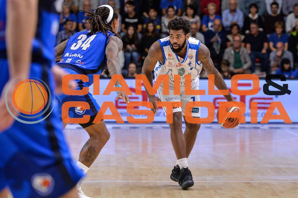 Travor Lacey<br /> Dinamo Banco di Sardegna Sassari - Germani Basket Brescia Leonessa<br /> Lega Basket Seire A 2016/2017<br /> Sassari 15/10/2016<br /> Foto Ciamillo-Castoria