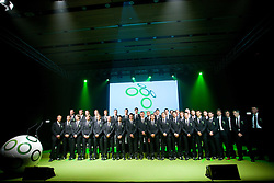 Group photo at official presentation of Slovenian National Football team for World Cup 2010 South Africa, on May 21, 2010 in Congress Center Brdo at Kranj, Slovenia. (Photo by Vid Ponikvar / Sportida)