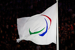 Paralympic flag at Opening ceremony during Day 1 of Summer Paralympic Games London 2012 on August 29, 2012, in Olympic stadium, London, Great Britain. (Photo by Vid Ponikvar / Sportida.com)