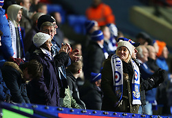 Eastleigh fans enjoy their trip to the Macron Stadium  - Mandatory byline: Matt McNulty/JMP - 19/01/2016 - FOOTBALL - Macron Stadium - Bolton, England - Bolton Wanderers v Eastleigh - FA Cup Third Round