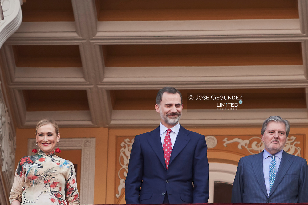 King Felipe VI of Spain attended Beneficencia bullfight at Las Ventas Bullring on June 16, 2017 in Madrid, Spain