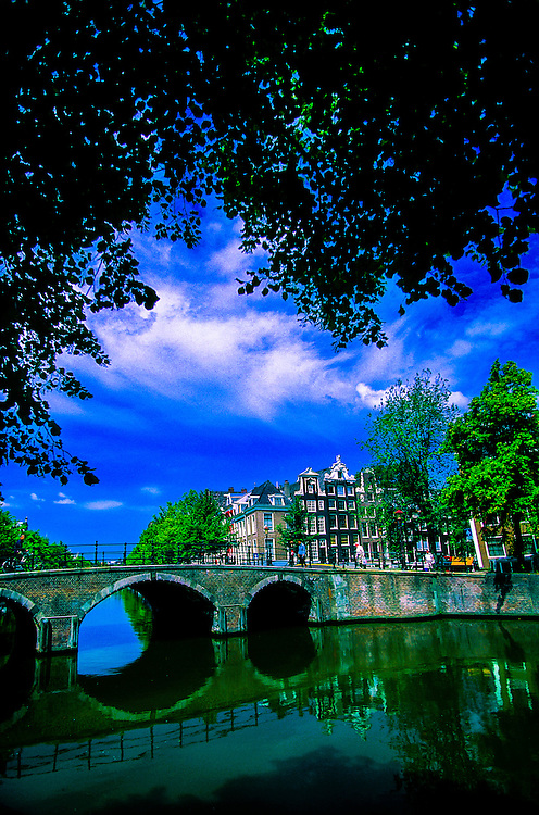 Canals at the corner of Keizersgracht and Reguliersgracht, Amsterdam, the Netherlands