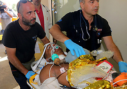 July 21, 2017 - Crete Island, Greece - Tourists were injured in Kos island after a strong earthquake moved to  hospital in Crete island. A powerful earthquake struck Turkey's Aegean coast and nearby Greek islands, sending frightened residents running out of buildings they feared would collapse and into the streets (Credit Image: © Eurokinissi via ZUMA Wire)