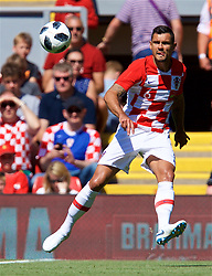 LIVERPOOL, ENGLAND - Sunday, June 3, 2018: Croatia and Liverpool defender Dejan Lovren during an international friendly between Brazil and Croatia at Anfield. (Pic by David Rawcliffe/Propaganda)