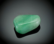 Cutout of a aventurine gemstone on black background