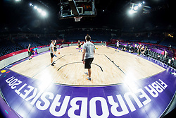 Goran Dragic of Slovenia at practice session of Team Slovenia 1 day before final match against Serbia at Day 17 of FIBA EuroBasket 2017 at Sinan Erdem Dome in Istanbul, Turkey on September 16, 2017. Photo by Vid Ponikvar / Sportida