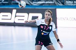 Elizabeth Omoregie #17 of RK Krim Mercator during handball match between RK Krim Mercator vs ZRK Zelene doline Zalec of Super Cup 2015, on August 29, 2015 in SRC Marina, Portoroz / Portorose, Slovenia. Photo by Urban Urbanc / Sportida
