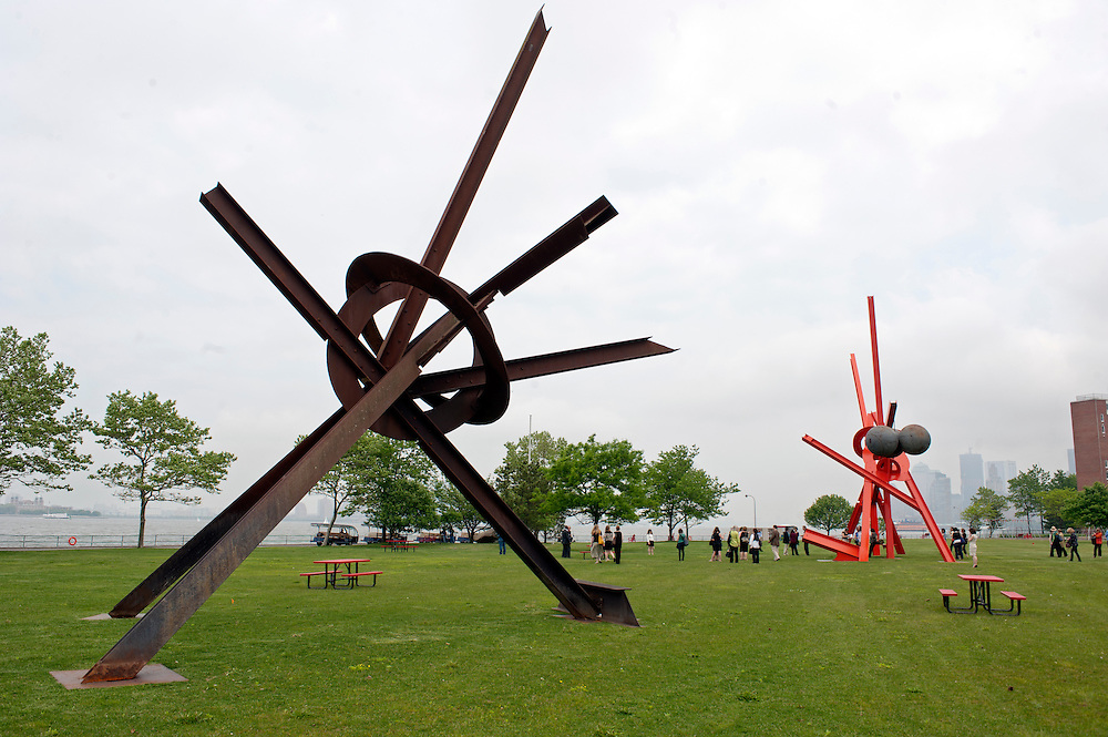 Sculptures by Mark di Suvero at Governors Island, New York, presented by Storm King Art Center. The show opens Friday May 27th - Sunday, September 25, 2011..The exhibition is the largest outdoor presentation of Mark di Suvero's sculptures to be shown in New York City since the 1970s and includes loans from public and private collection
