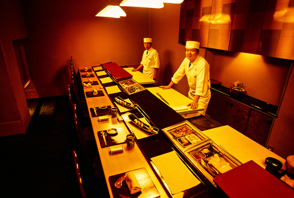 Sushi counter, Hanagatami Restaurant, Ritz-Carlton Osaka, Osaka, Japan