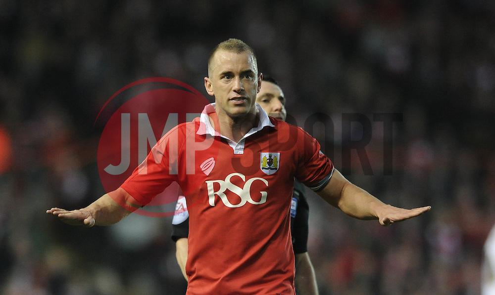 Bristol City's Aaron Wilbraham - Photo mandatory by-line: Dougie Allward/JMP - Mobile: 07966 386802 - 07/04/2015 - SPORT - Football - Bristol - Ashton Gate - Bristol City v Swindon Town - Sky Bet League One