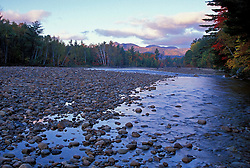 Saco River. Cobble beach.  White Mountain N.F. Cohos Trail.  Bartlett, NH