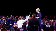 Conservative Annual Conference, Manchester Central, Manchester, Great Britain <br /> Day 4<br /> 4th October 2017 <br /> <br /> Theresa May MP<br /> Leader of the Conservatives makes her Leaders' speech at the end of the 4 day conference in Manchester. <br /> <br /> Lee Nelson, comedian is escorted out of the conference after trying to give Mrs May a P45 'from Boris Johnson'.  <br /> <br /> <br /> Photograph by Elliott Franks <br /> Image licensed to Elliott Franks Photography Services