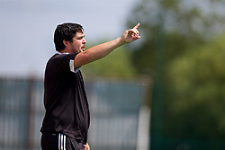 NEWPORT, WALES - Wednesday, July 25, 2018: Combined Regional coach Rob Thomas during the Welsh Football Trust Cymru Cup 2018 at Dragon Park. (Pic by Paul Greenwood/Propaganda)