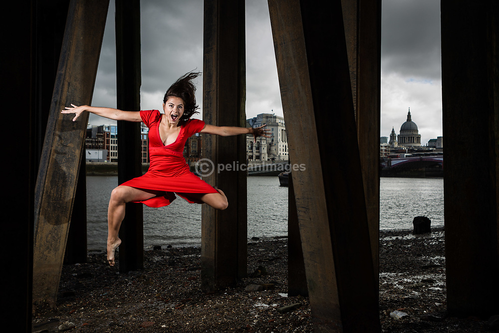 Dancer Aude Florentin at South Bank London, September 2015.