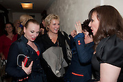 JUDITH OWEN; JENNIFER SAUNDERS; RUBY WAX; FRANCES BARBER, Press night for Ruby Wax- Losing it. Duchess theatre. London. 1 September 2011. <br /> <br />  , -DO NOT ARCHIVE-&copy; Copyright Photograph by Dafydd Jones. 248 Clapham Rd. London SW9 0PZ. Tel 0207 820 0771. www.dafjones.com.