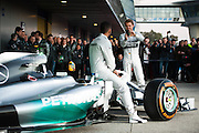 Circuito de Jerez, Spain : Formula One Pre-season Testing 2014. Nico Rosberg  (GER), and Lewis Hamilton (GBR), present the new Mercedes Petronas Formula 1 car.