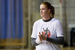 Lina Krhlikar during practice session of Slovenian Women handball National Team three days before match against Serbia, on October 24, 2013 in Arena Tivoli, Ljubljana, Slovenia. (Photo by Vid Ponikvar / Sportida)