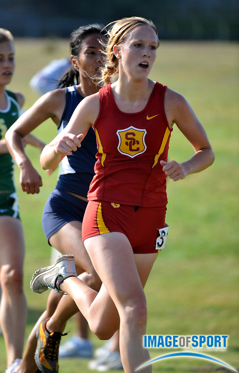 "Sep 6, 2008; Irvine, CA, USA; Katherine Ellis of Southern California was 39th in the womens ""A"" race  in 19:01 in the UC Irvine Invitational at the Anteater Recreation Center Fields."