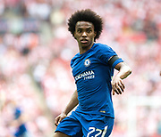 Chelsea (22) Willian during the The FA Cup match between Chelsea and Southampton at Wembley Stadium, London, England on 22 April 2018. Picture by Sebastian Frej.