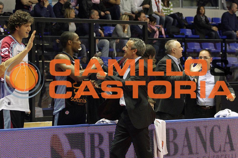 DESCRIZIONE : Biella Lega A 2008-09 Angelico Biella Solsonica Rieti<br /> GIOCATORE : Lino Lardo<br /> SQUADRA : Solsonica Rieti<br /> EVENTO : Campionato Lega A 2008-2009 <br /> GARA : Angelico Biella Solsonica Rieti<br /> DATA : 15/03/2009 <br /> CATEGORIA : Esultanza<br /> SPORT : Pallacanestro <br /> AUTORE : Agenzia Ciamillo-Castoria/S.Ceretti