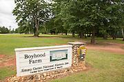 President Jimmy Carter Boyhood Farm museum May 6, 2013 in Plains, Georgia.