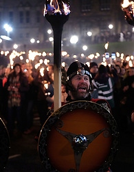 EDINBURGH'S HOGMANAY TORCHLIGHT PROCESSION, Friday 30th December 2016<br /> <br /> Vikings lead the torchlight procession to Calton Hill, Edinburgh<br /> <br /> (c) Alex Todd | Edinburgh Elite media