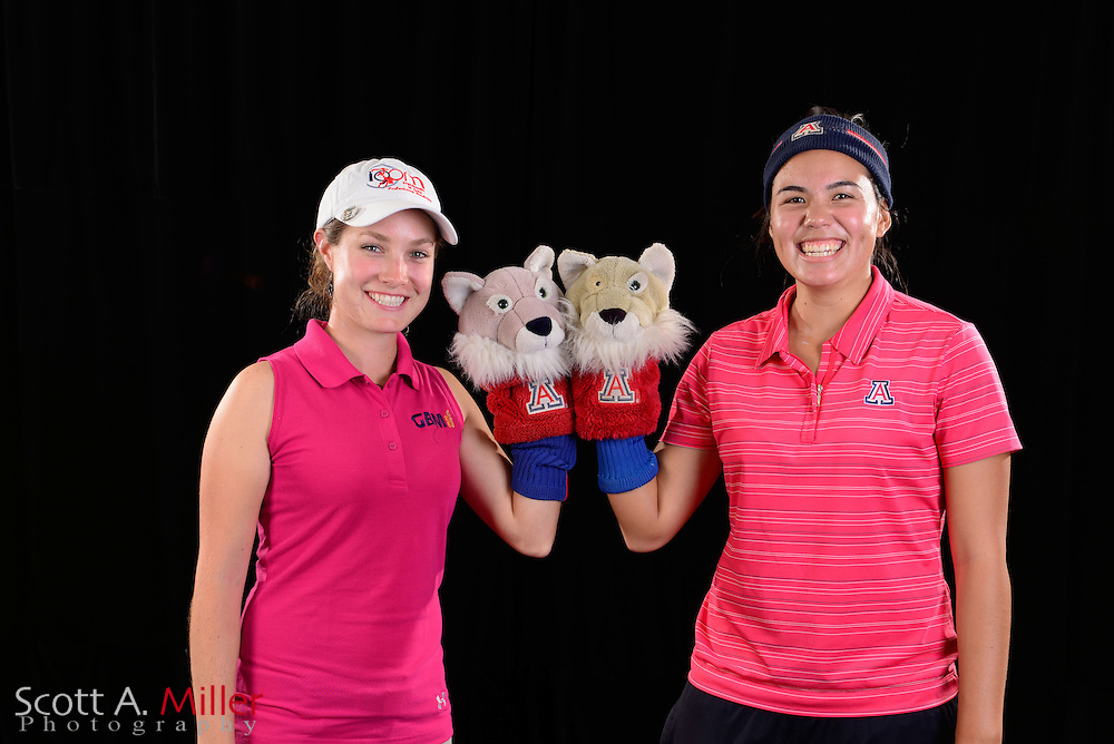 Alejandra Llaneza, Isabelle Boineau during a portrait session prior to the Symetra Tour's Florida's Natural Charity Classic at the Lake Region Yacht and Country Club on Mar 20, 2013  in Winter Haven, Florida. ..©2013 Scott A. Miller